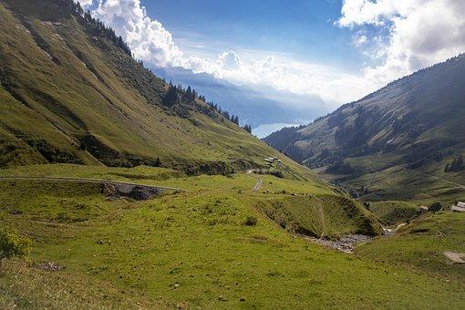 Mountains, Trail, Landscape, Road, Path, Mountain Slope
