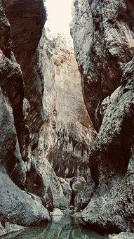 Rock, Cliff, Cliffs, Gorge, Nature, Water, Landscape
