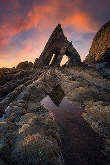Rocks, Coast, Beach, Seashore, Seaside, Scenery