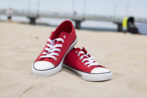 Shoes, Footwear, Sand, Beach, Summer, Fashion, Holiday