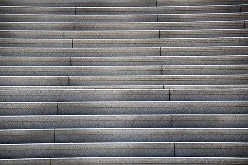 Stairs, Structure, Concrete, Building, Usa, Capitolium