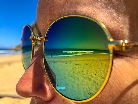 Sunglasses, Beach, Summer, Holiday, Sand, Travel, Woman