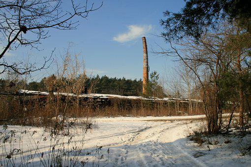Chimney, Building, Abandoned, Urbex, The Industry