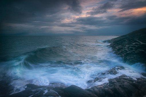 Coast, Waves, Sea, Horizon, Ocean, Water, Seascape