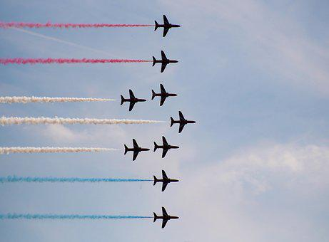 Aircraft, Airplane, Airshow, Raf, Air Display, Display