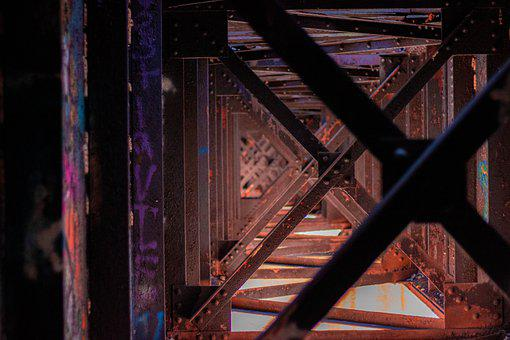 Metal, Bridge, Abandoned, Architecture, Construction
