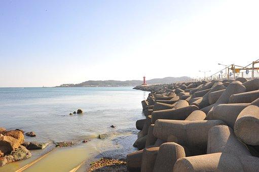 Beach, Shore, Coast, Rocks, Waves