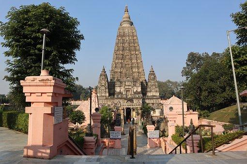 Temple, Building, Buddha, Bodh Gaya, Bihar, India