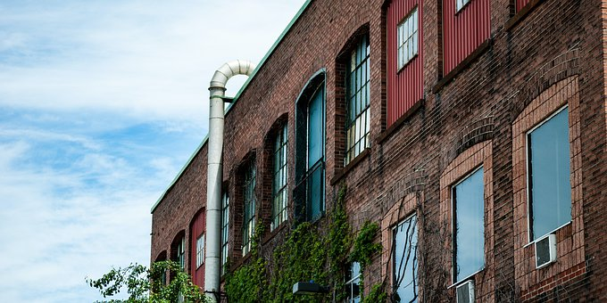 Abandoned, Building, Factory, Old, Industry, Hall