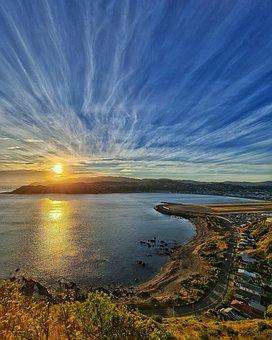 Beach, Sea, Sunset, Sunrise, Sun, Sunlight, Coast