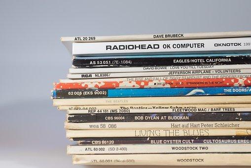 Vinyl Records, Album, Music, Collection, Pile, Vinyl