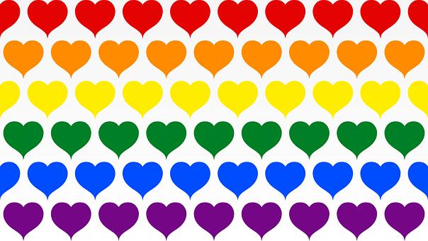 Hearts, Colorful, Rainbow, Rainbow Hearts, Pattern