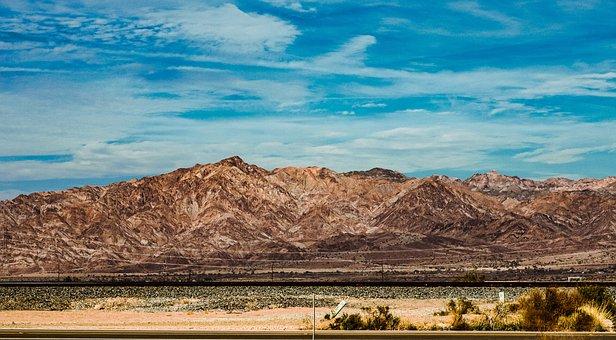 Mountains, Desert, Arid, Road, Dry, Nature, Erosion