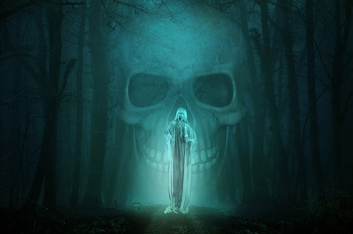 Ghost, Skull, Death, Fog, Forest, Dungeons Dragons