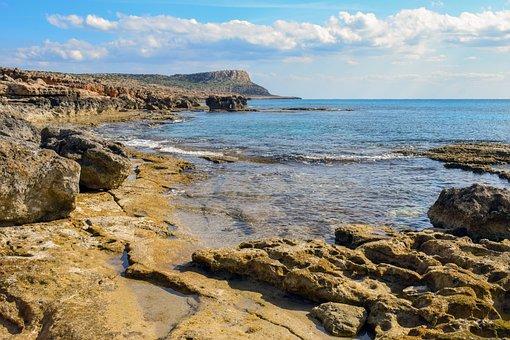 Sea, Ocean, Coast, Erosion, Horizon