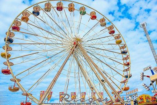 Ferris Wheel, Amusement Park, Fairground