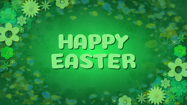 Easter, Passover, Meadow, Green, Flowers, Happy