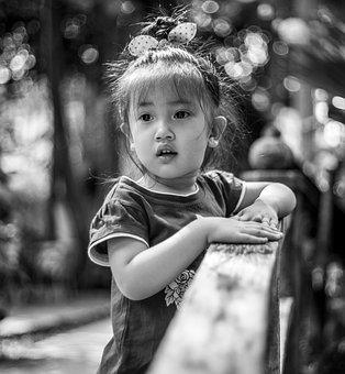 Girl, Child, Monochrome, Kid, Young, Childhood, Pretty