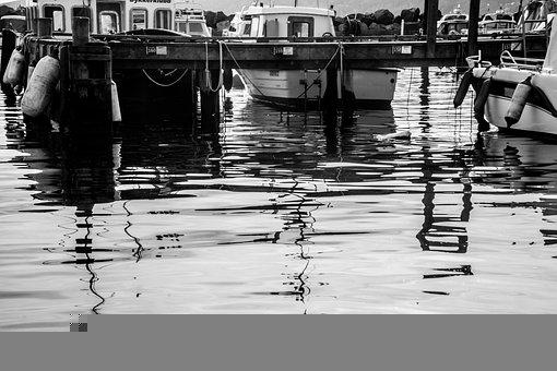Boats, Harbor, Sea, Water, Reflection, Mirroring