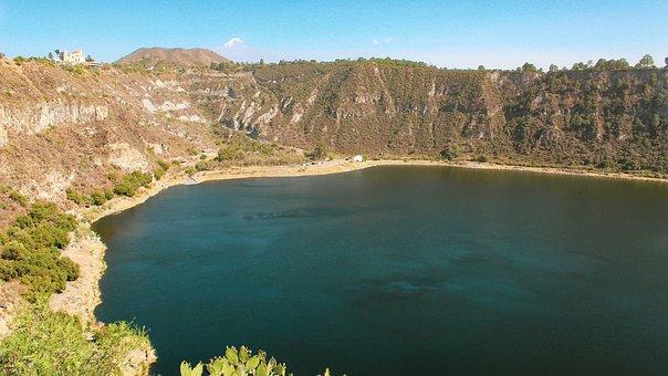 Lake, Mountain, Volcano, Crater, Nature, Scenic