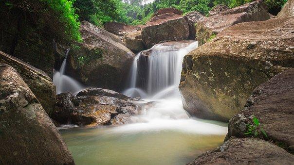 Sri Lanka, Waterfall, Nature, River, Water, Leaf