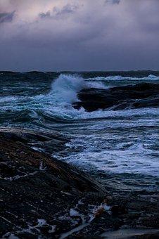 Shore, Ocean, Coast, Norway, Waves, Water, Storm, Sea