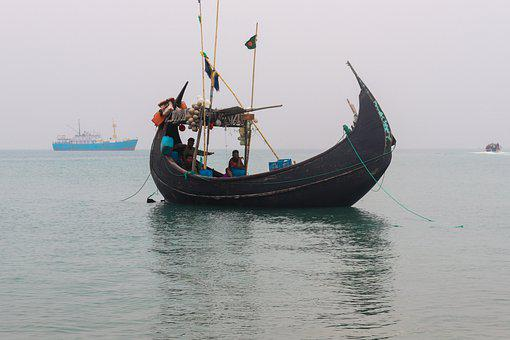 Boats, Fishermen, People, Sea, Ocean, Bangladesh