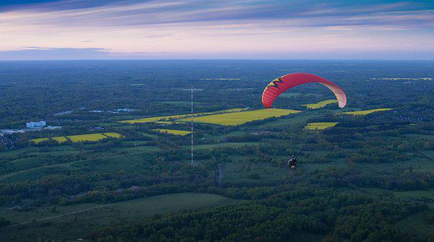 Paragliding, Parachute, Flying, Sport