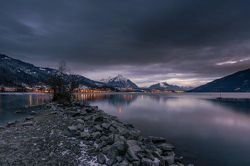 Lake, Alpine, Rocks, Shore, Rocky Shore, Alps