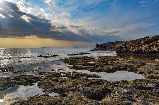 Coast, Rocky, Beach, Sea, Ocean, Seascape, Landscape