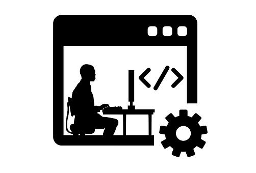 Man, Programmer, Computer, Progress, Silhouette