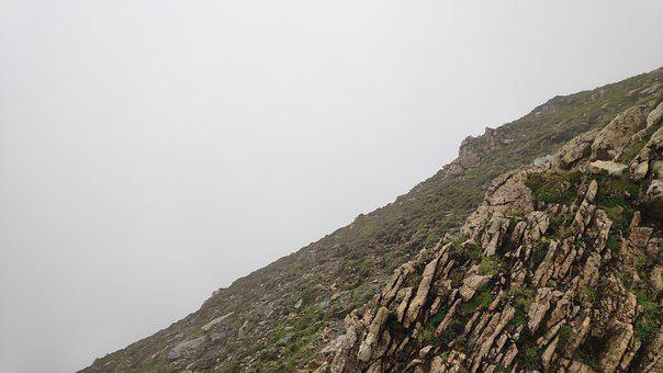Mountain, Landscape, Fog, Foggy, Clouds, Sky, Slope