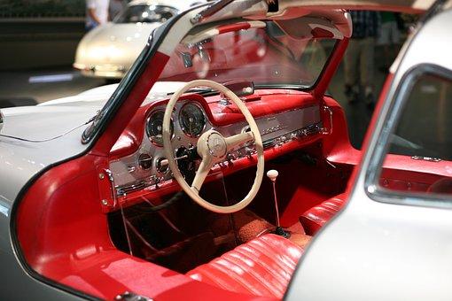 Mercedes Benz, Car, Interior, Steering Wheel, Oldtimer