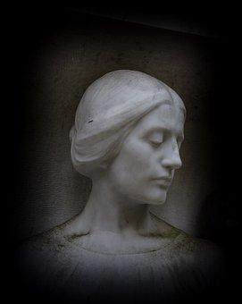 Stone Statue, Woman, Face, Statue, Sculpture, Figure