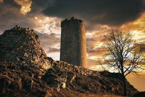 Castle, Tower, Ruins, Castle Ruins, Middle Ages