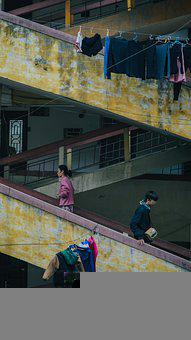 Dormitory, Old, Vintage, People, Shabby, Building