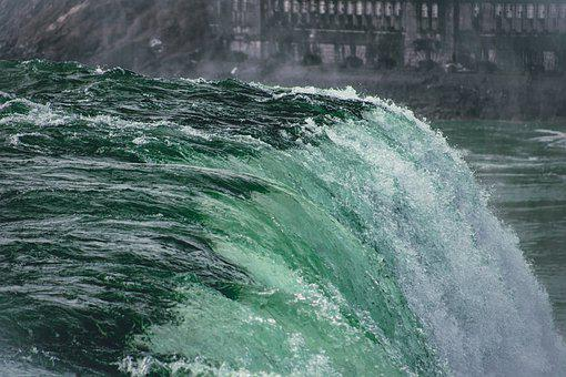 Waterfall, River, Niagara Falls, Water, Falls, Scenic