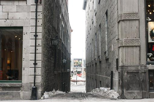 Alley, Path, City, Downtown, Montreal, Quebec, Canada