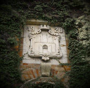 Blazon, Wall, Stone, Emblem, Antique, Ancient, Building