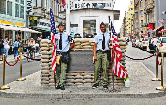 Berlin, Checkpoint Charlie, Border, Border Guard