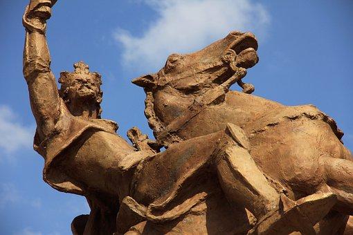 The Statue Of, Svätopluk, Bratislava, Castle