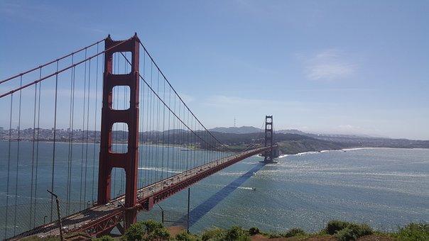 Golden, Gate, Br, Bridge, Landmark, California, Travel