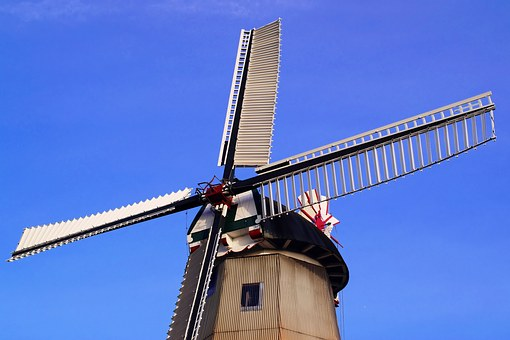 Mill, Wing, East Frisia, Dutch, Historic Preservation