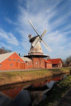 Mill, East Frisia, Dutch, Wieke, Windmill, Wing