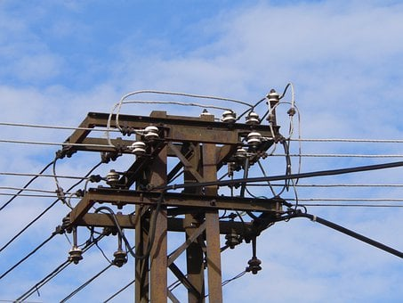 Electric, Transformer, Sky, Blue, Electric Cable