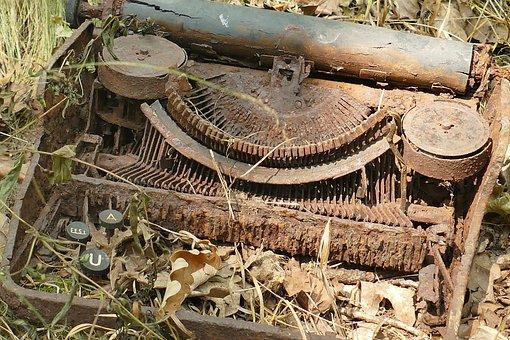 Typewriter, Old, Rots, Nature, Environmental Awareness
