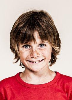 Child, Freckles, Happy, Nice, Beauty, Joy, Merry