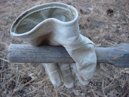 Glove, Leather, Work, Gardening, Wheelbarrow