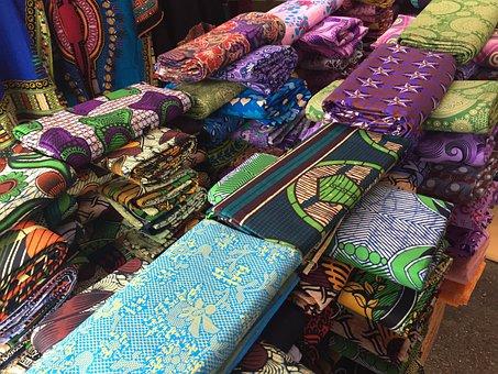 African Print, Ankara, Ghana, Textile, Market