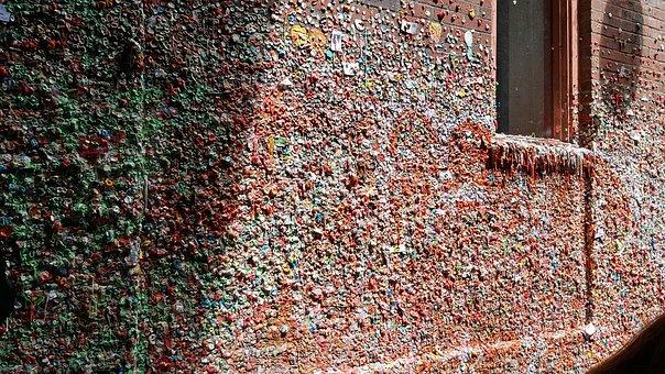 Gumwall, Gum, Wall, Bricks, Landmark, Tourist
